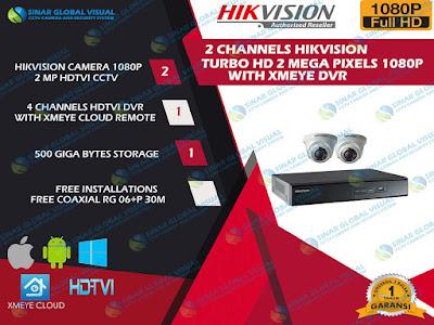 Paket Pasang 2 Camera HIKVISION