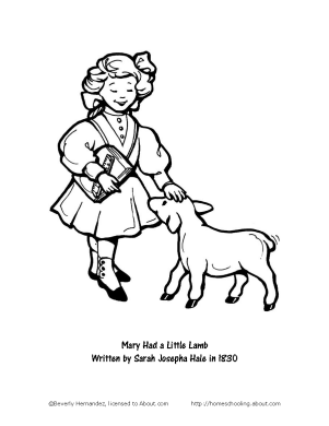 Inkspired musings mary had a little lamb nursery rhyme fun for Tomie depaola coloring pages