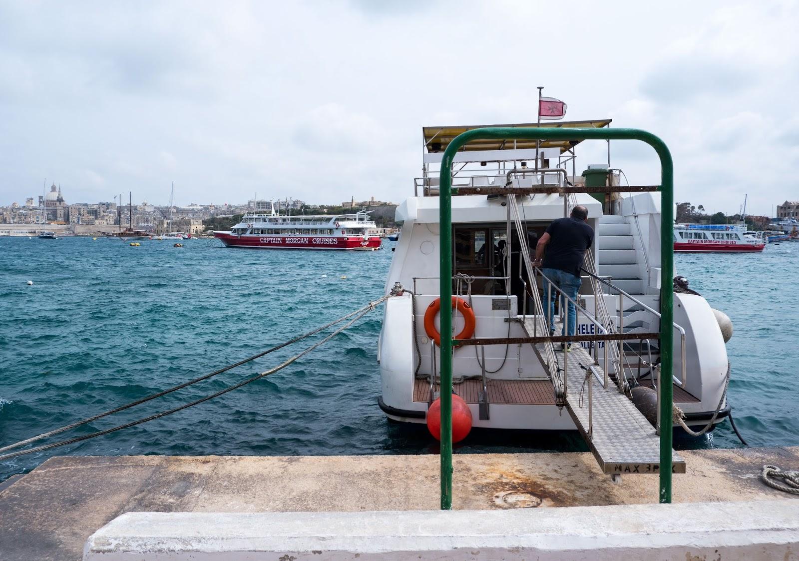 Sliema and Valletta harbour boat cruise, Malta