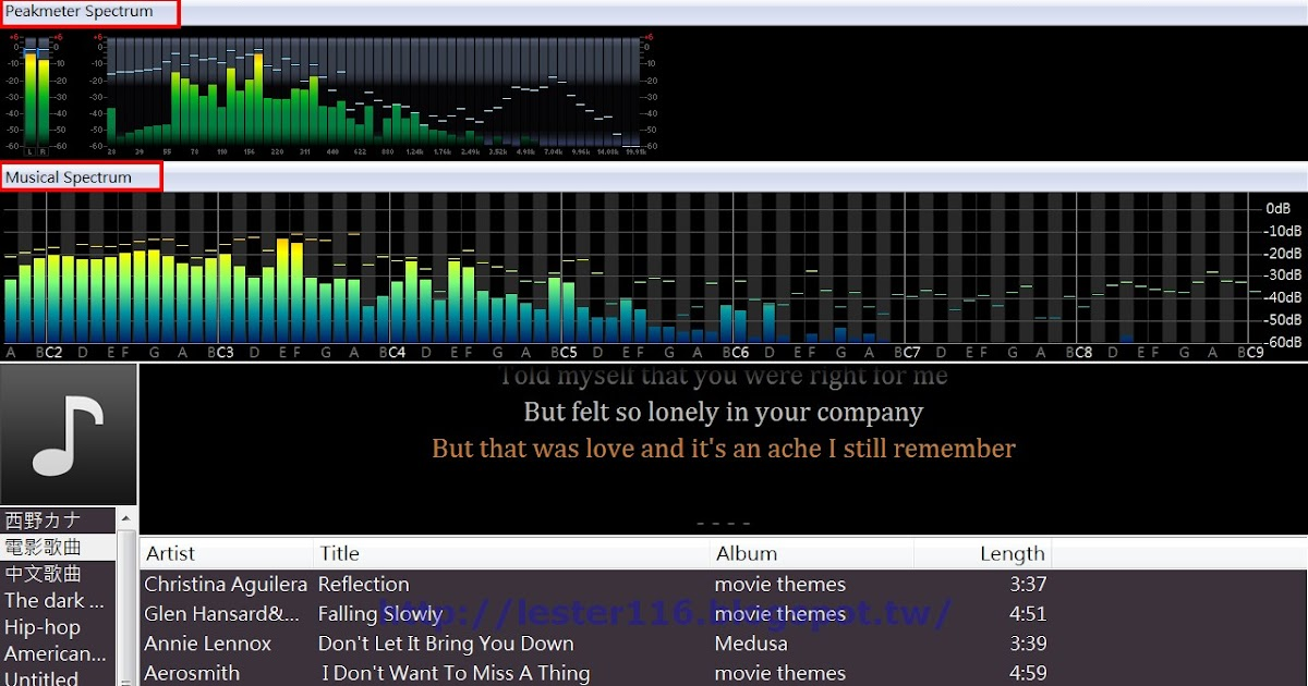 水域: [foobar2000] Spectrum 頻譜儀視覺效果設定