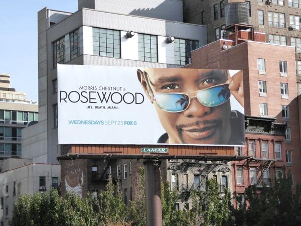 Rosewood series launch billboard NYC