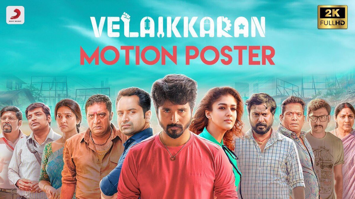 Much awaited #VelaikkaranMotionPoster is here