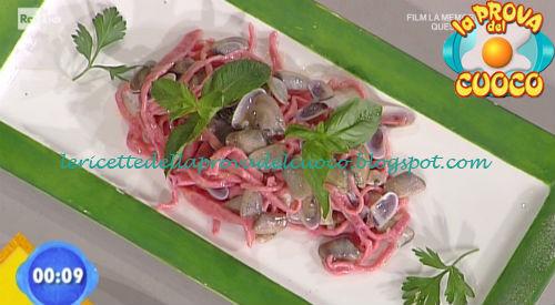 Tagliolini rossi con telline e pecorino ricetta Fava da Prova del Cuoco