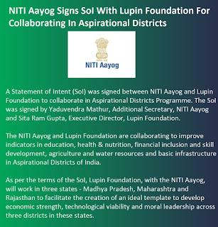 NITI Aayog signs