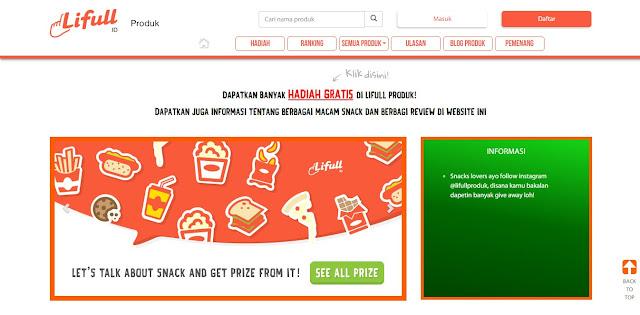 Tampilan Utama Website Lifull-Produk.id