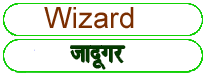 Wizard meaning in HINDI