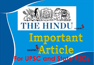 The Hindu Important Article - KKUPSC