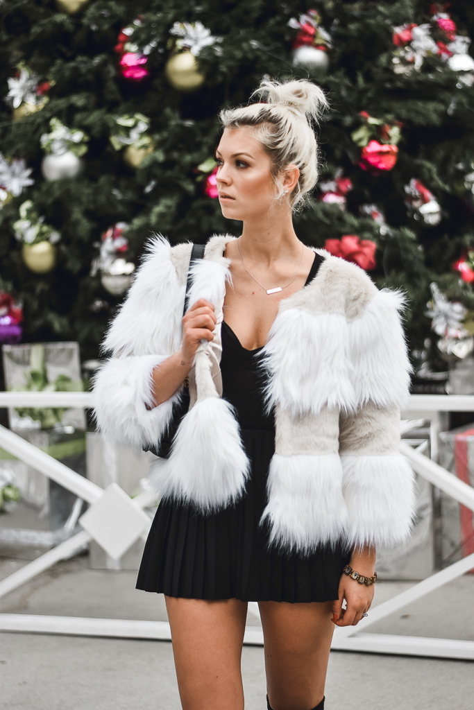 style tips on how to wear faux fur jackets