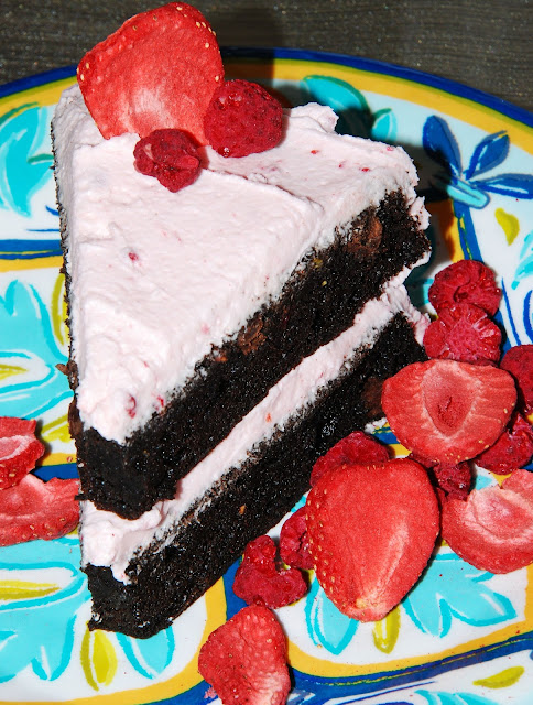 sugar free mixed berry chocolate cake vegan gluten-free
