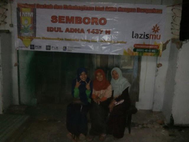 Qurban Bersama PK. IMM Tawang Alun UNEJ di Semboro