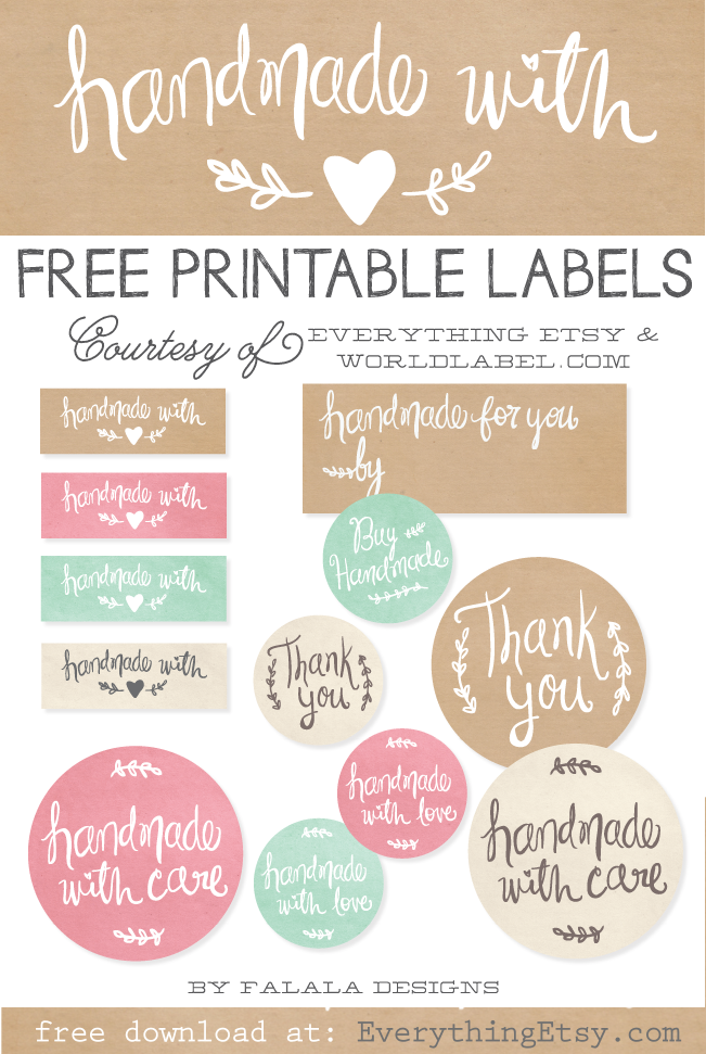 free downloadable labels template - best of free printable tags labels for handmade gifts
