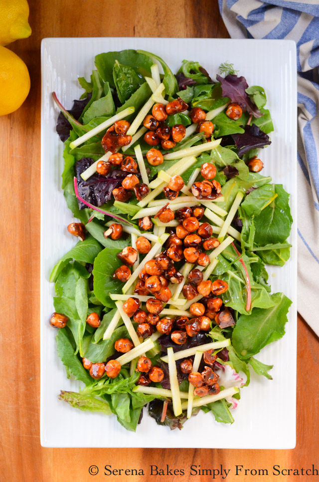 Apple Salad with Candied Hazelnuts and Lemon Vinaigrette