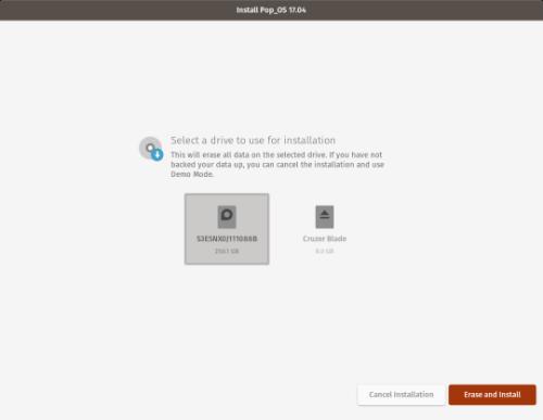 Pop OS Installer
