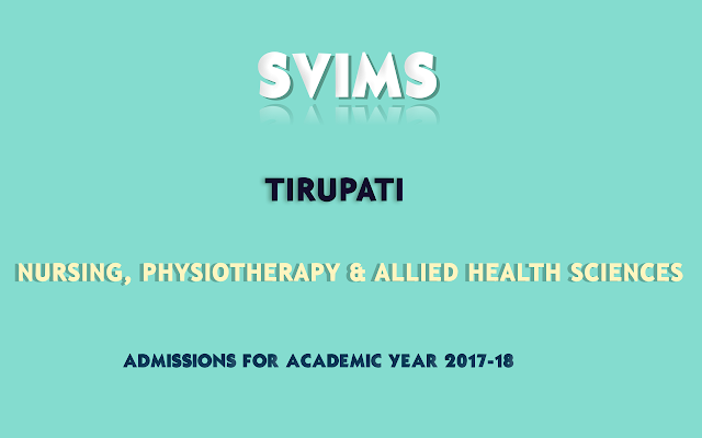 SVIMS-Tirupati-Nursing-Physiotherapy-Allied-Health-Sciences-Admissions-2017-2018