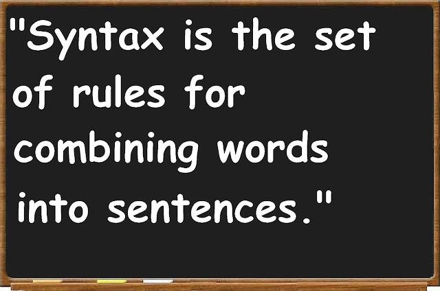 Pengertian Syntax Pada Bahasa Pemrograman