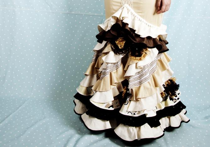 volantes de una falda de flamenca de patronesdeflamenca.com