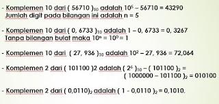 Cara Menghitung Bilangan Komplemen r