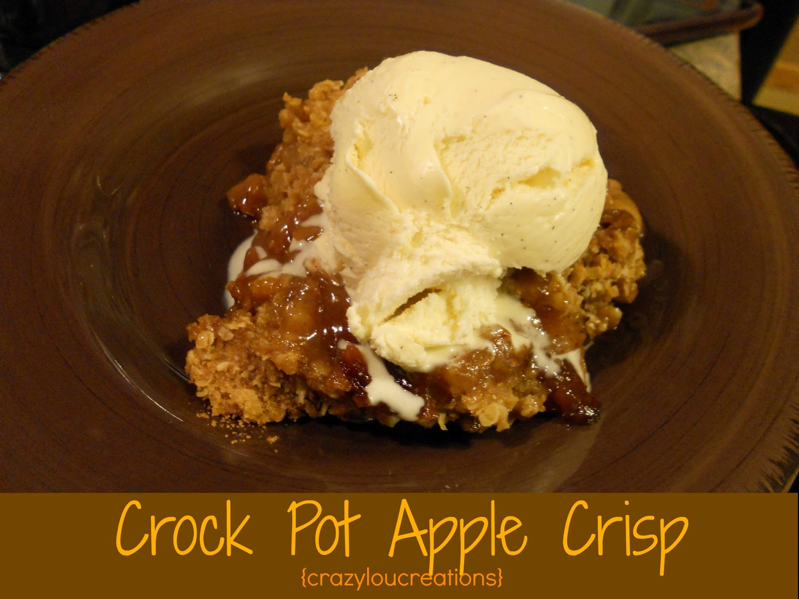Crazylou Crock Pot Apple Crisp