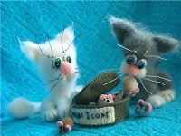 Котики амигуруми вязаные крючком