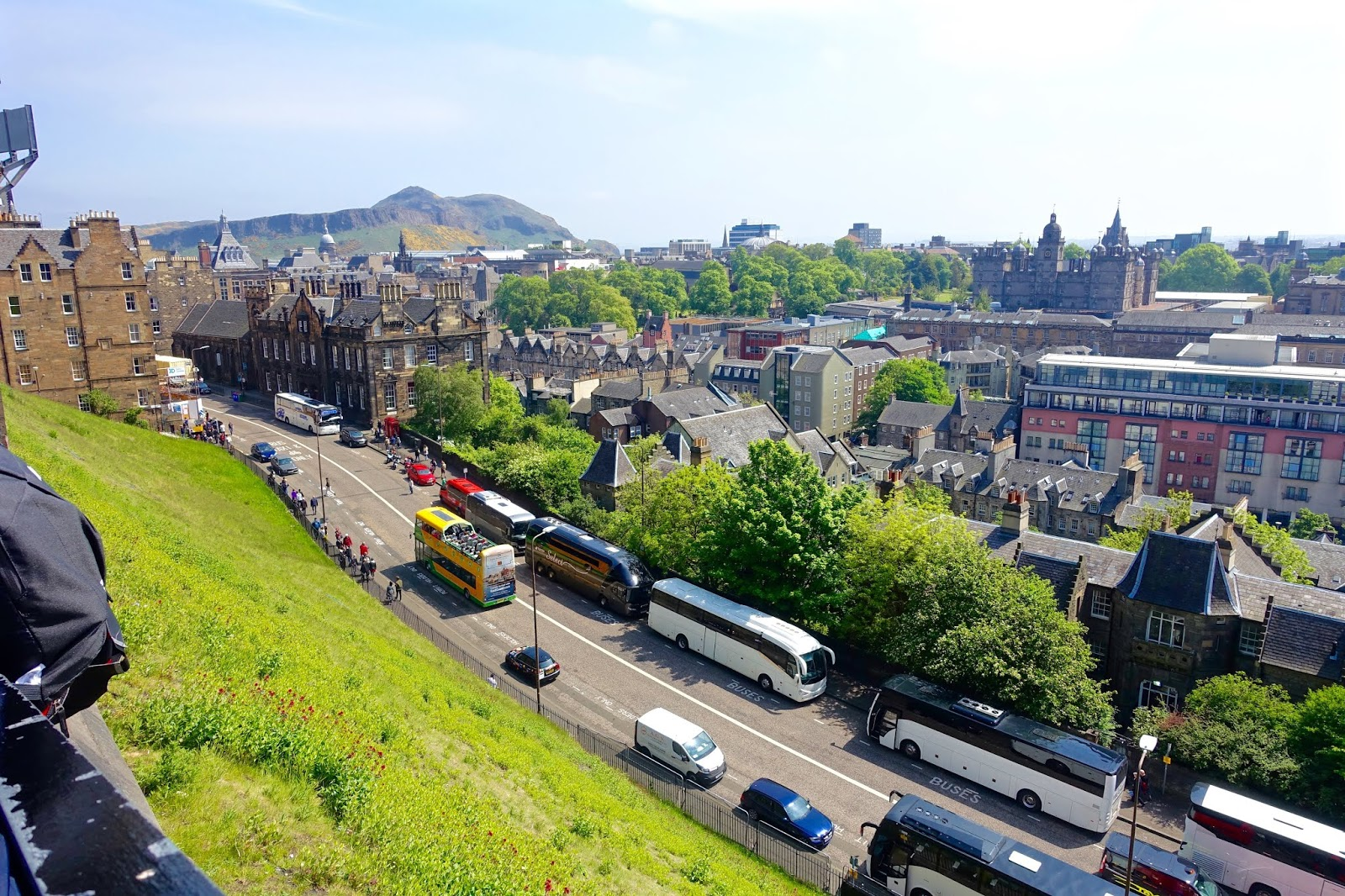 view of edinburgh from castle
