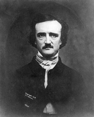 A portrait photo of Edgar Allan Poe.