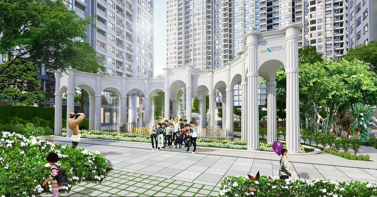 Cổng chào dự án Vinhomes Smart City
