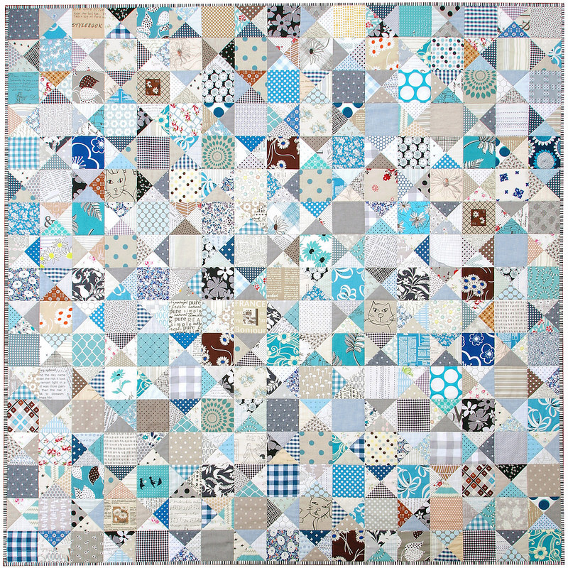 An Ohio Star Quilt - The Blues | © Red Pepper Quilts 2017
