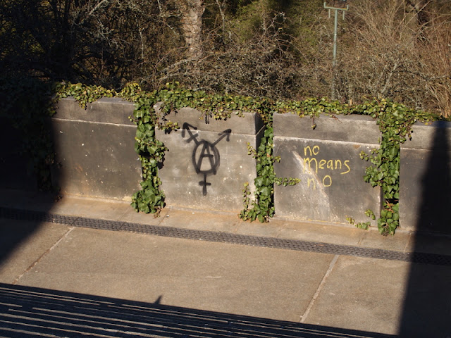 Frühlingsgefühle, Graffiti, Nein heißt Nein, Kreuzberg, Nationaldenkmal, Berlin