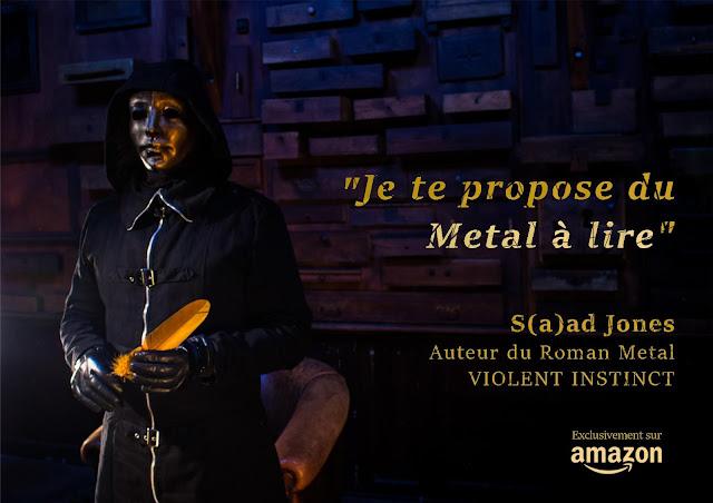 Saad Jones écrivain Thriller Metal