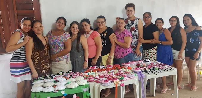 MUCAMBO-CE: Curso de Pintura em tecido e Feltro leva oportunidade para comunidades da Zona Rural.