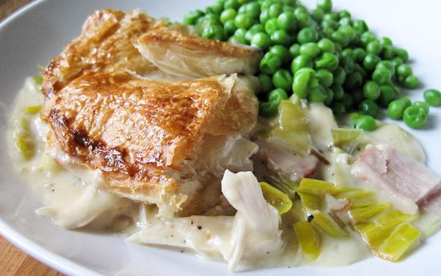 Chicken Leek and Ham Pie