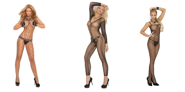 Fishnet Catsuits by Elegant Moments at The Spot