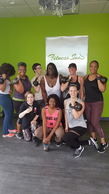 Kettlebell Chicks class group photo