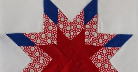 Moore About Nancy Pieced Eight Point Star Quilt Block