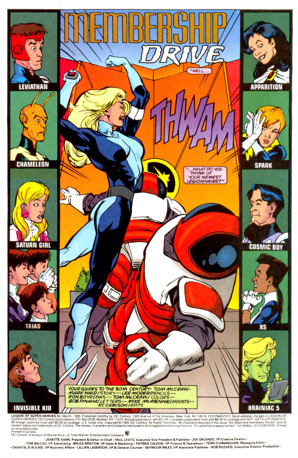 Legion of Super-Heroes (1989) 66 Page 1