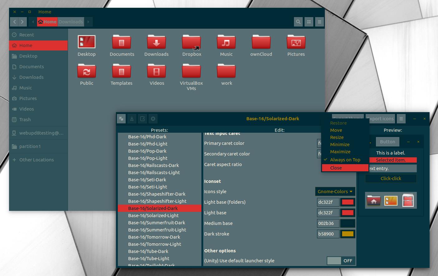 Numix-Based GTK Theme Generator Tool Oomox 1 2 0 Released