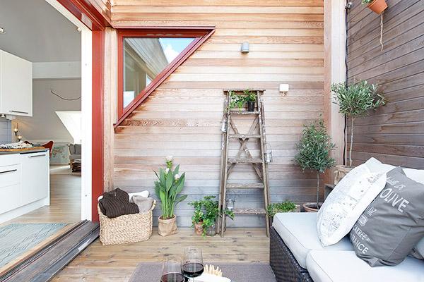 décoration style scandinave terrasse en bois