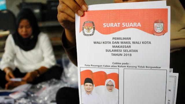 Kubu Paslon Tunggal dan Kotak Kosong di Makassar Terlibat Bentrokan