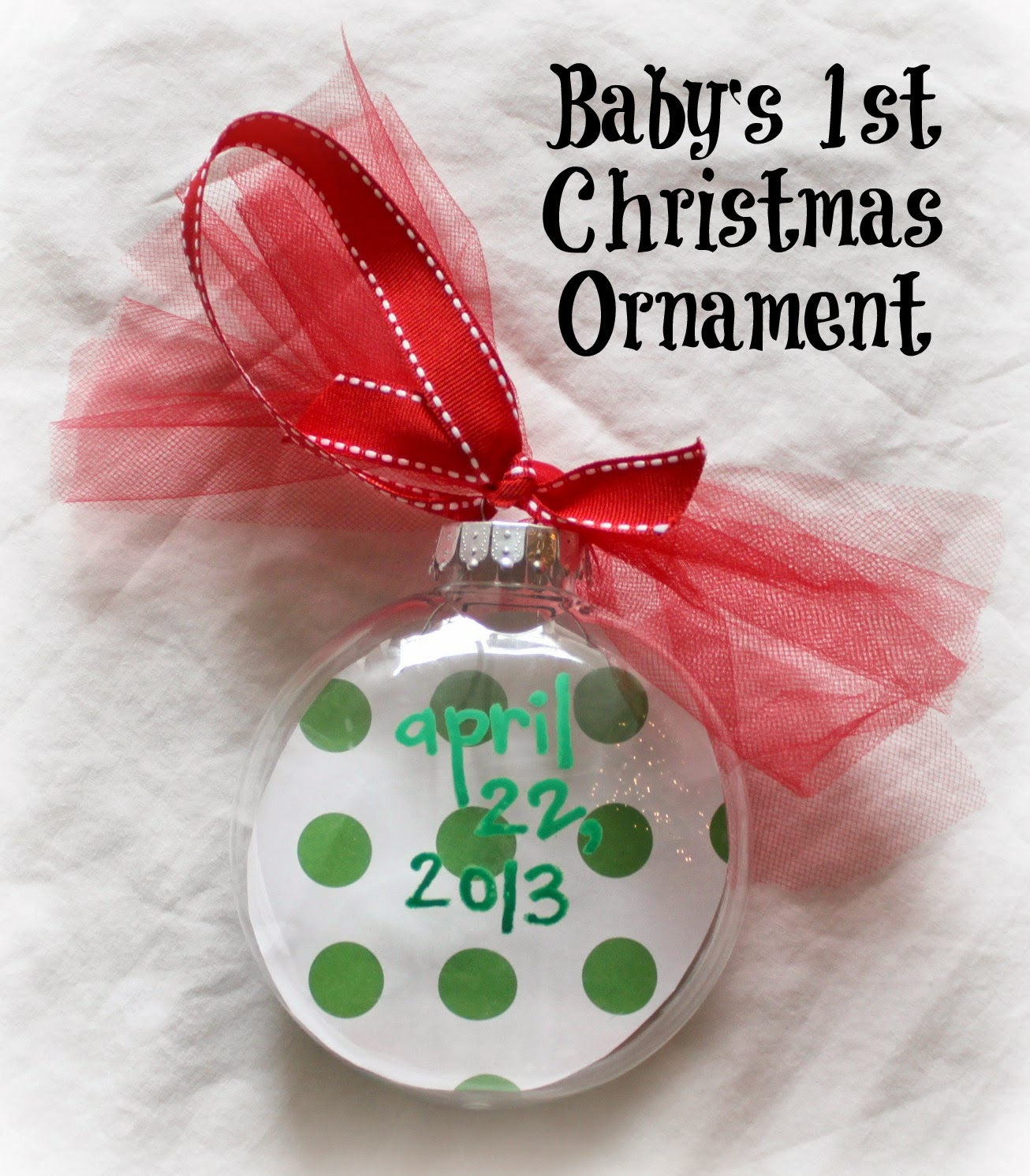 Diy Babys First Christmas Footprint Ornament Bare