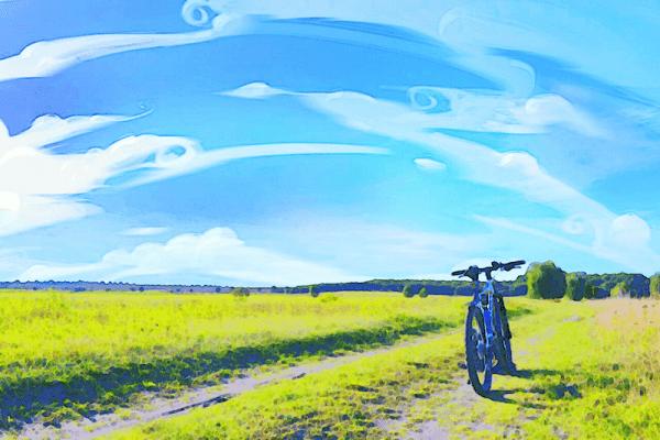Foto langit mirip kartun Jepang