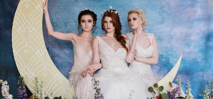 Celestial Wedding Inspiration with Dresses from Demetrios