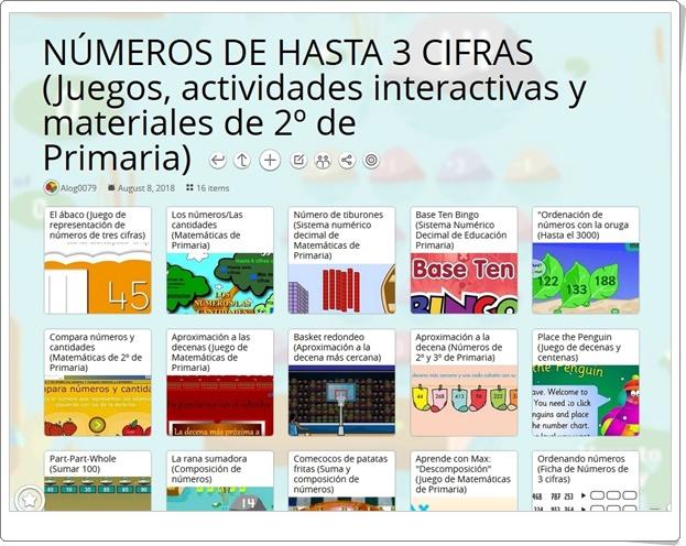 """""""16 Juegos, actividades interactivas y materiales para el estudio de los NÚMEROS DE HASTA 3 CIFRAS en 2º de Primaria"""""""