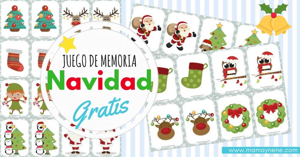 JUEGOS-MEMORIA-NAVIDAD-FAMILIA-NINOS-MAMAYNENE-IMPRIMIBLES