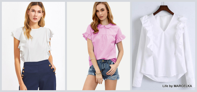 www.shein.com/White-V-Neck-Ruffle-Trim-Buttoned-Cuff-Blouse-p-334802-cat-1733.html?utm_source=www.lifebymarcelka.pl&utm_medium=blogger&url_from=lifebymarcelka