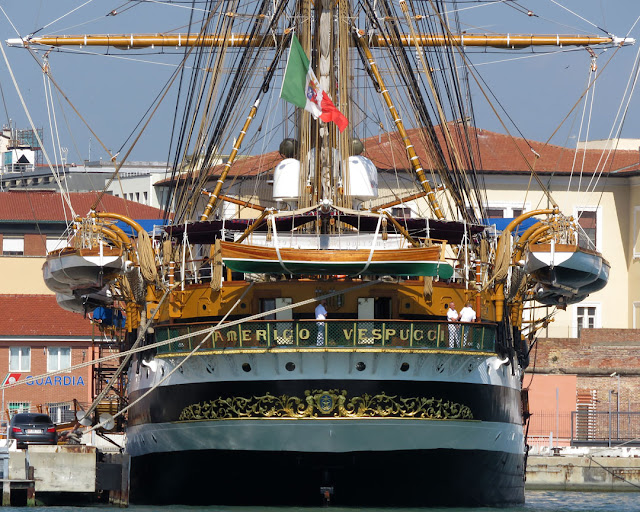 Training ship Amerigo Vespucci A 5312, port of Livorno
