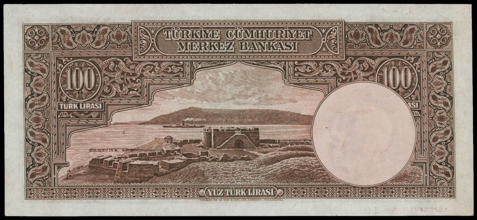 Turkey currency pictures 100 Lira banknote 1930