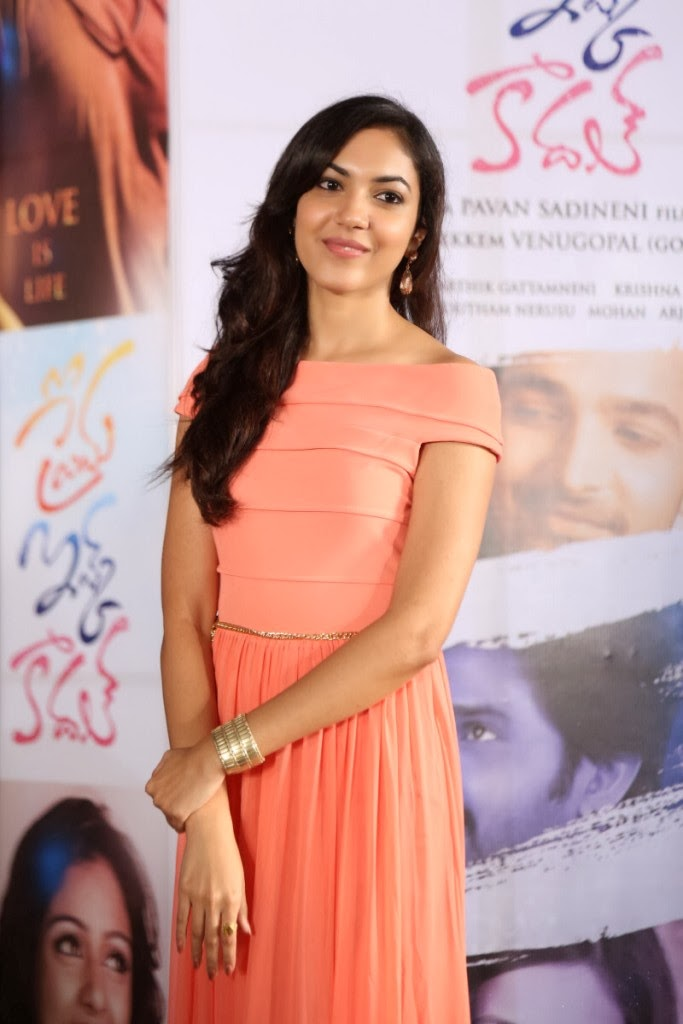 Ritu varma photo gallery in long dress at prema ishq kadhal movie audio launch