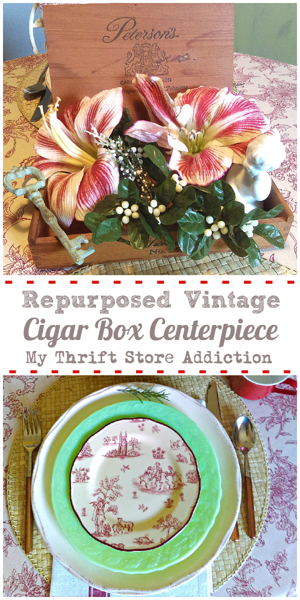 15 minute repurposed vintage cigar box centerpiece