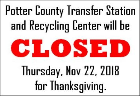 11-22 Closed Thursday for Thanksgiving