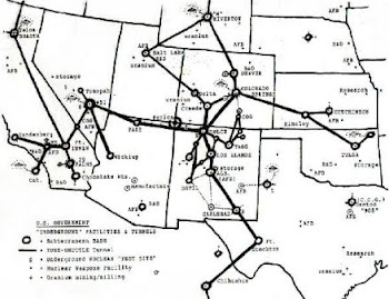 THIS IS A MAP OF THE ELITES UNDERGROUND BASES IN AMERICA,THEY ARE CONNECTED BY UNDERGROUND TRAINS